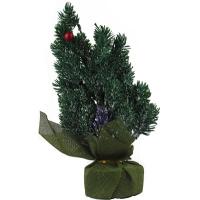 Искусственная елка зеленая 30см настольная заснеженная 5-95 (6261)