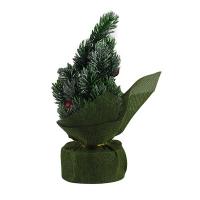 Искусственная елка зеленая 22см настольная  5-100 (6261)