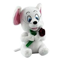 Игрушка мягкая Мышка белая с розой 5-214 (1331)