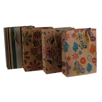 Пакет бумажный эко-крафт с рисунком 20*14,2*5,8  5-328 (10353)