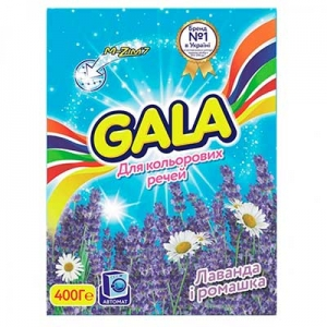 Порошок Gala автомат Лаванда и ромашка для цветного белья 400 г 1227