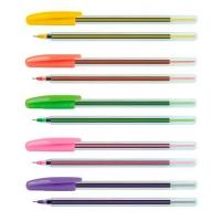 Ручка масляная синяя Economix Colibri 0,7мм Е10237