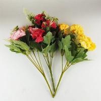 Цветы искусственные Букет Гвоздик пастель 10-131 (113)