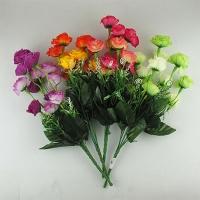 Цветы искусственные Букет Роз мини двухцветных 10-134 (113)
