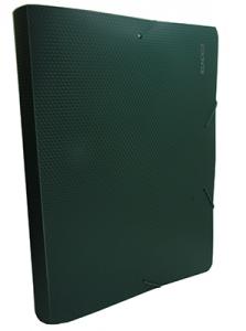 Папка бокс А4 60мм на резинке зеленая Е31405-04