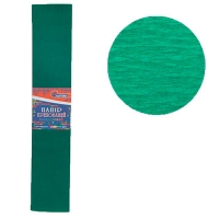 Гофрированная бумага 55% темно-зеленый 50*200см 31г/м2 55-8040KR