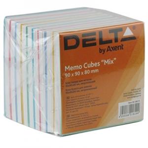 Блок бумаги для записей 90*90*80мм микс не клееныйDelta by Axent D8015
