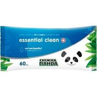 Салфетки влажные без спирта Снежная панда Essential Clean 60шт 0527