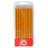 Набор карандашей чернографитных 2Н-3В 10шт 1570