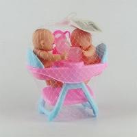Кукла 2 пупса  за столиком  Е92