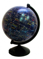 Глобус d 26см Звездное небо лак
