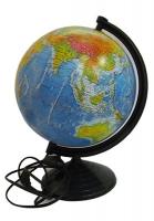 Глобус d 26см физический-политический с двойной картой лакированный с подсветкой укр