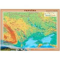 Украина. Физическая карта М1:2 400 000 карта настенная 65*45см укр бумага/ламинация