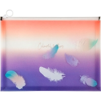 Папка А4 на молнии zip-lock Colourful Feather 02 Axent 1452-92-А