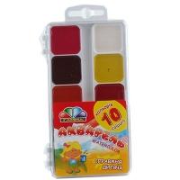 Краска акварельная мед 10цв Гамма н/с б/кисточки пластик уп 312044