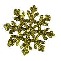 Новогодняя подвеска Снежинка №0 6см микс золото цена за упак 10шт