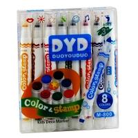 Набор маркеров двухсторонние со штампами 8 цветов Color&stamp цена за упак М-800 5-928 (21515)