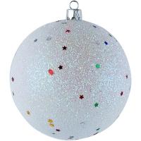 Новогодний пластиковый шар d150мм блеск ассорти