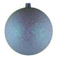 Новогодний пластиковый шар d100мм блестки белые цена за шт
