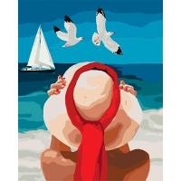 Набор для росписи по номерам 40*50см Люди. Морское наслаждение КНО4502