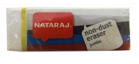 Ластик Nataraj Non Dust Jumbo 3шт в уп. с европодвеской 202301003 (цена за шт)