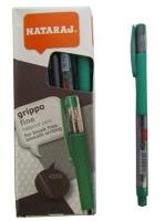 Ручка шариковая зеленая 0,7мм Nataraj Grippo 10шт в уп 206501006