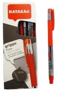 Ручка шариковая красная 0,7мм Nataraj Grippo 10шт в уп  206502006