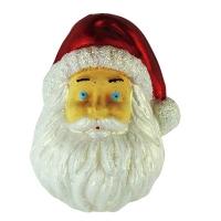 Новогодняя подвеска Дед Мороз 9см голографик пластик