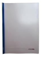 Папка А4 пластиковая с планкой-прижимом Economix 65л синяя 180мкм Е31205-02