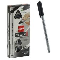 Ручка шариковая черная 1.0мм TRI-TECH CELLO  CL1003 3-5333-532