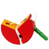 Деревянный шнуровка фрукты 5 микс 10*12см.в пакете 6,2*11*8см CLR314 (288шт)