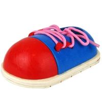 Деревянный шнуровка ботинок в пакете 10*14см CLR319 (100шт)