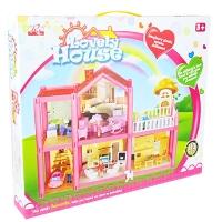 Домик 2-этажа 113дет. фигурки,машина,кровать,кухня,детская,ванная,кресла в кор. OS954 (30шт)