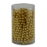 Бусы на елку 5 мм золото 8м в тубусе 91536-PN