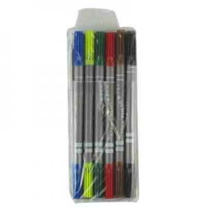 Фломастеры 6 цветов двухсторонние 108-6 3-383 10-560 21197