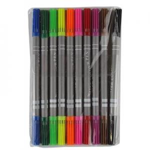 Фломастеры 10 цветов двухсторонние тонкие 108-10 10-561 3-384 ( 21197)