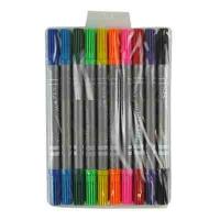 Фломастеры 10 цветов двухсторонние средние 108-10 10-562  3-386 (21197)