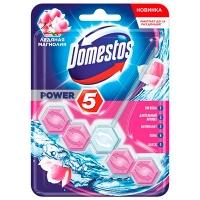 Блок для унитаза Domestos Power 5 ледяная магнолия 55 г 26008