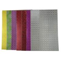 Бумага цветная А4 10л MIX голограмма самоклейка 3-229 (22224)