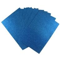 Фоамиран для творчества синий глитер уп10шт цена за уп 3-231 (22224)