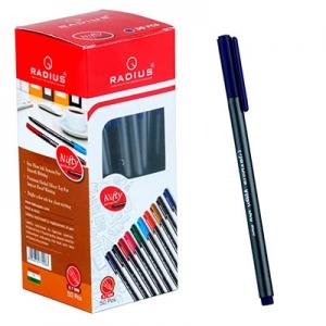 Ручка шариковая синия Nifty pen grey metalic корпус упак 50шт