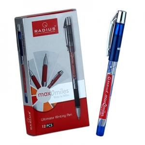 Ручка шариковая синяя MAX-O-MILES принт корпус 10км упак 12шт