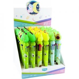 Ручка-автомат шариковая 10 цветов Авокадо № 8710АВ