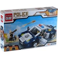 """Конструктор """"Brick"""" 1910 """"Полиция"""" (24шт) 303 дет, в разобр.кор. 32,5*22*6см 130 7 toys"""