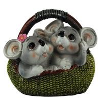 Копилка керамическая Крысы в корзине 92329-PN