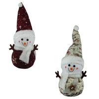 Новогодние украшения Снеговик 37см микс Pioner 92247-PN
