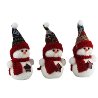 Новогодняя подвеска Снеговик 15см Pioner 92253-PN