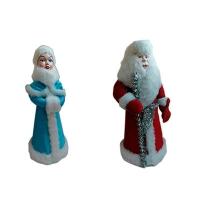 Новогодняя фигура Дед Мороз и Снегурочка цена за 1шт в упак 2шт