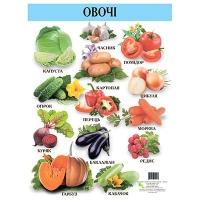 Плакат А2 Овочі украинская 96444   Кредо