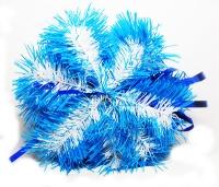 Новогодняя подвеска Снежинка каркасная d25см ассорти цена за шт